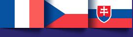 Drapeaux Français-Tchèque-Slovaque